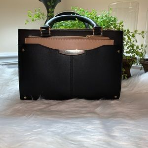 ANN TAYLOR BLACK VEGAN LEATHER